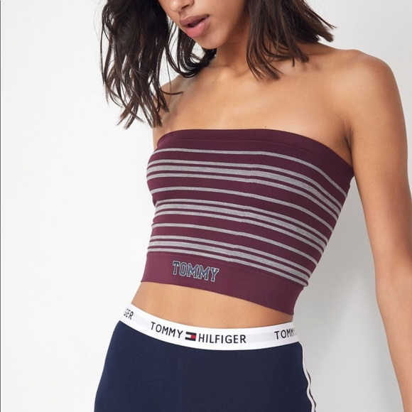 bd9d721d Urban Outfitters Tops | Tommy Hilfiger Cropped Tube Top | Poshmark